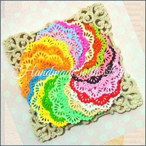 3 inches Rainbow Paper Doilies. 1 pack of 24pcs beautiful colour. by PaperCraftwithLove on Etsy