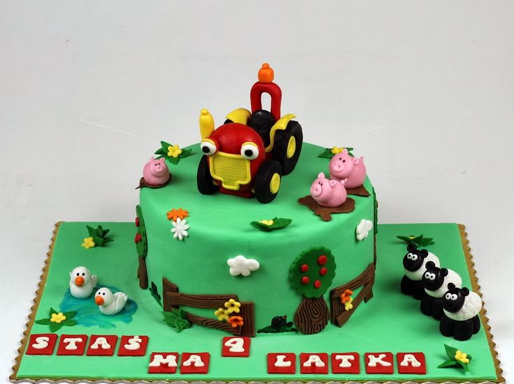 Tractor Tom London Cake