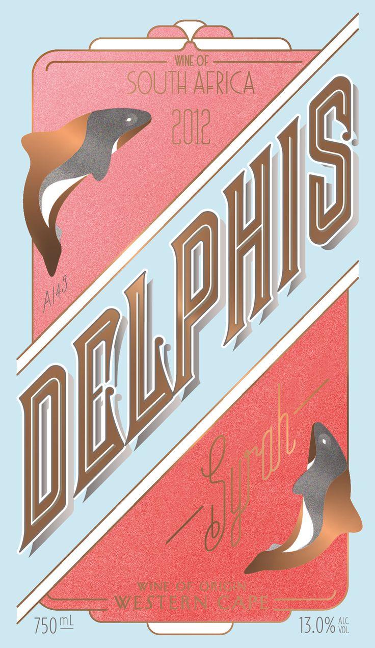 Delphis Wine Label