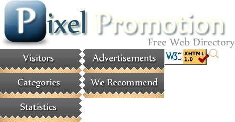 Free Pixel Promotion Website directory submission to promote your website and increase search engine rankings and popularity. Feel free to add your url to our seo friendly online directory listing.