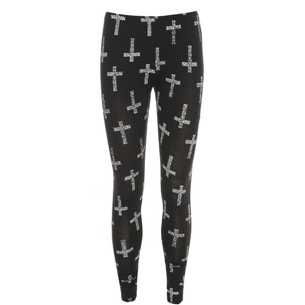 AX Paris Scratch Cross Covered Leggings ($6.24) ❤ liked on Polyvore