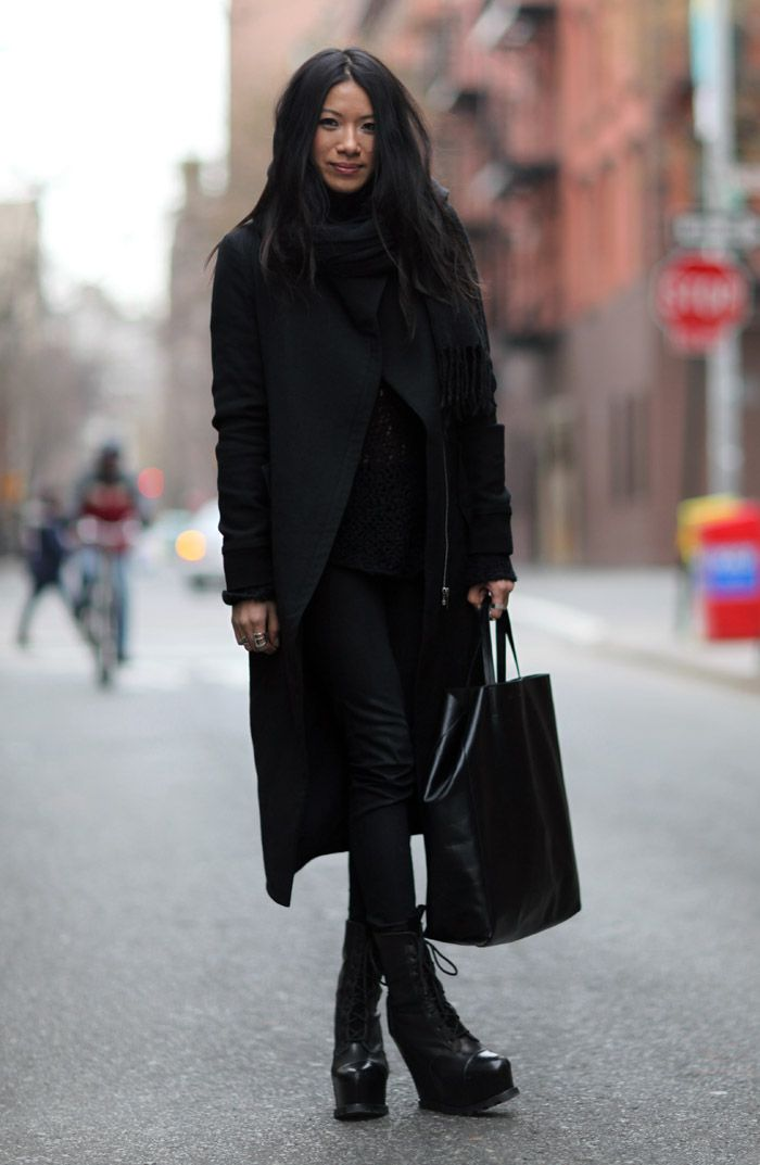 Helmut Lang, J Brand, Acne, and Celine... Lable Whore incognito. Street Style
