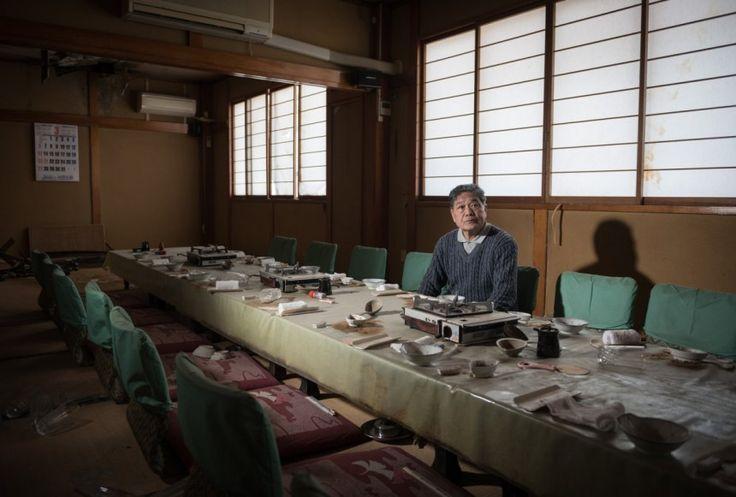 Ο Hiroyuki Igari σε ένα εστιατόριο ενός φίλου του, 9 χιλιόμετρα μακριά από τον αντιδραστήρα