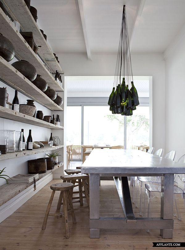 Love the wood shelves