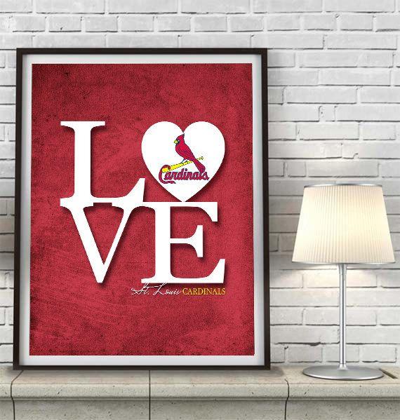 St. Louis Cardinals baseball inspired ART PRINT Love art by ParodyArtPrints