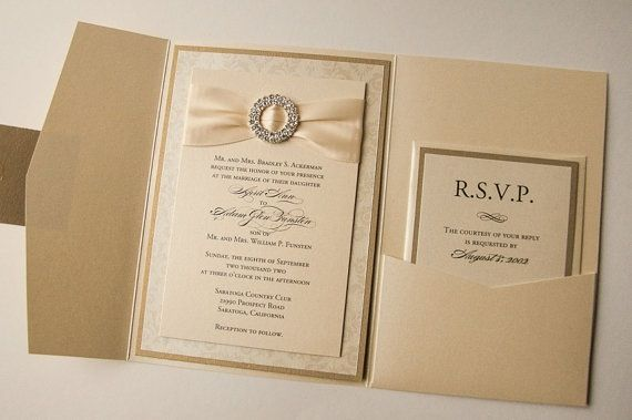 Elegant Gold Wedding Invitations Wedding Invite Pinterest Gold
