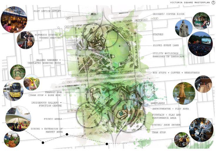 Victoria Square 'Urban Acupuncture' masterplan