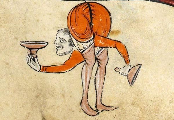 Medieval manuscript images: contortionist