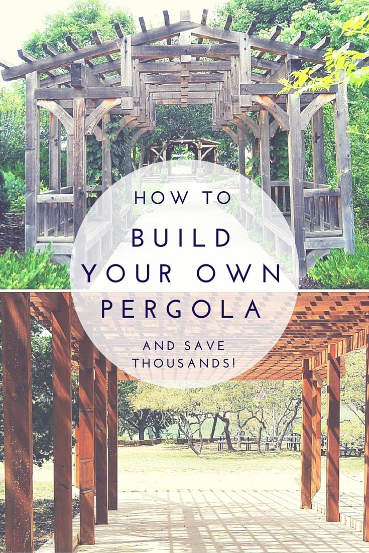 How To Build Your Own Pergola and Save Thousands - A pergola adds a unique and beautiful element to your garden and it's just the thing to bring your back yard landscaping to life.