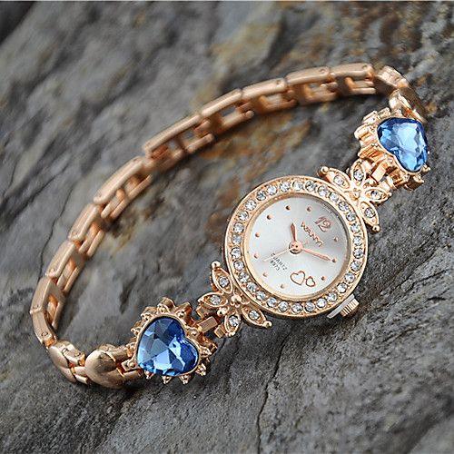 Mujer Reloj de Moda Reloj Pulsera Cuarzo Aleación Banda Heart Shape Elegant Dorado - USD $6.99 ! ¡Producto DESTACADO! ¡Tenemos un producto destacado a increíble precio bajo! Venga a ver este y otros artículos parecidos. ¡Consiga descuentos, recompensas y mucho más siempre que compre con nosotros!