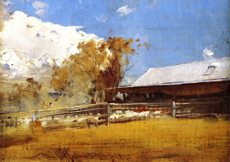 Shearing Shed Newstead Painting by Tom Roberts | Oil Painting