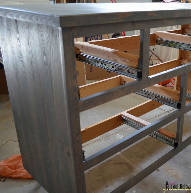 7 drawer dresser-side stained