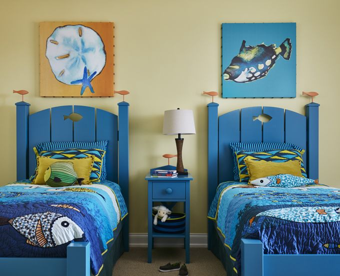 Beachy Kidsu0027 Bedroom | Erica Pigula Interior Design Part 63