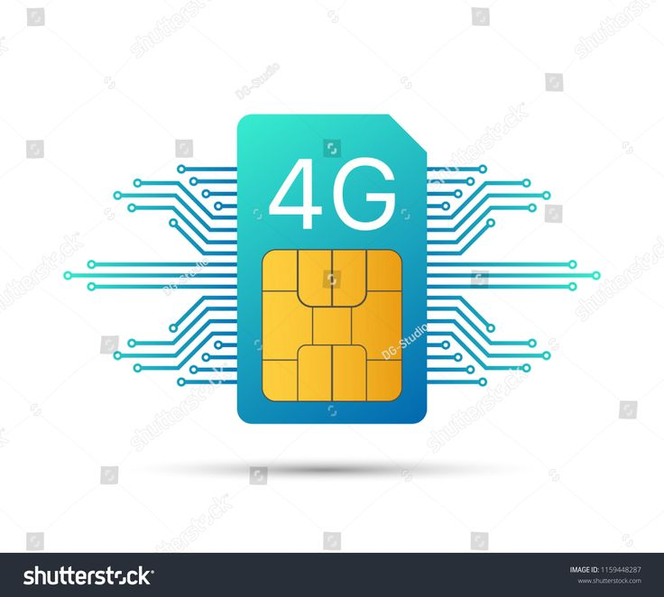 4g Sim Card Mobile Telecommunications Technology Symbol Vector