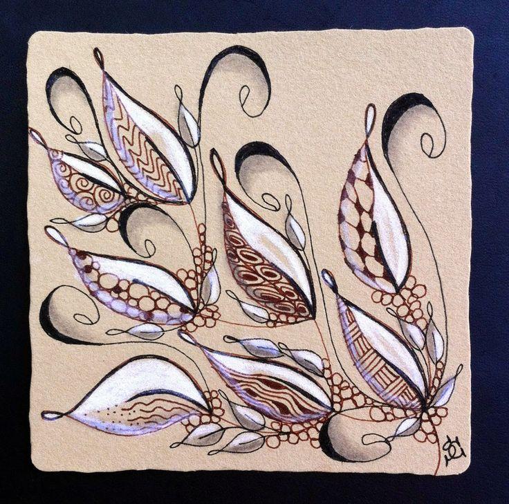 Tangled Ink Art: DIVA Challenge #186 Leaves
