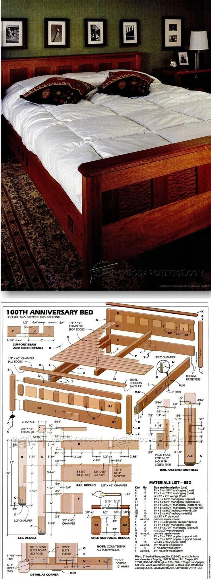 Bedroom Furniture Plans - Furniture Plans and Projects | http://WoodArchivist.com