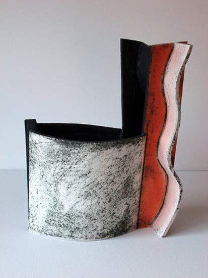 Ceramics by John Higgins at Studiopottery.co.uk - 2013. Constructed slab form (1)