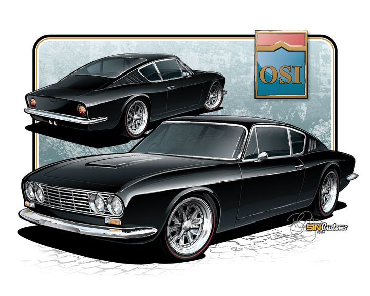 vehicle rendering and illustration by sin customs artist ryan curtis wwwsin customs hot rod carshot