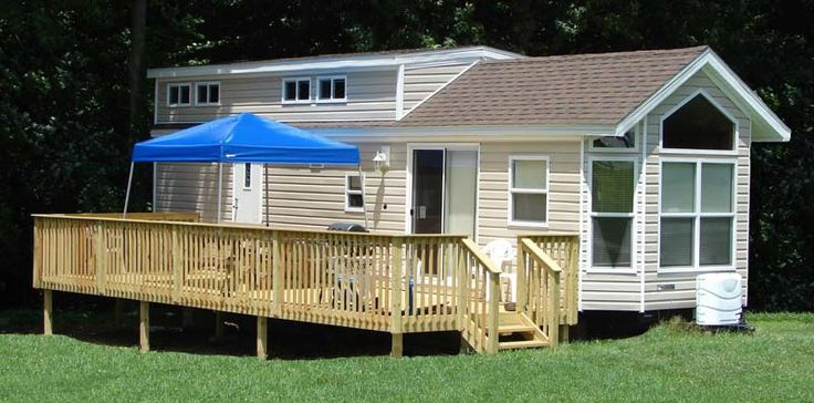 Pet-friendly cottage rentals at Pleasant Acres Farm Campground
