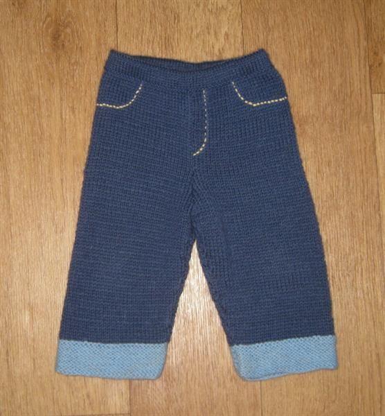 Вязаные джинсы для ребенка