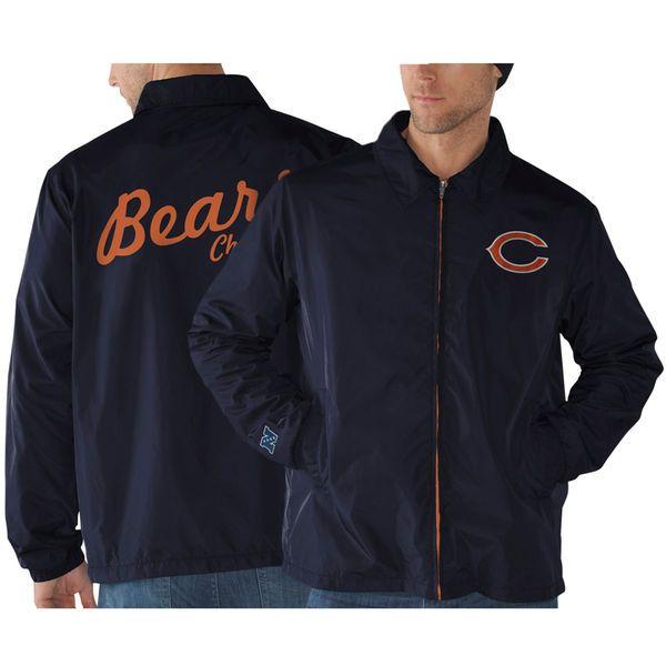 Chicago Bears Head Coach Full Zip Jacket - Navy Blue - $32.99