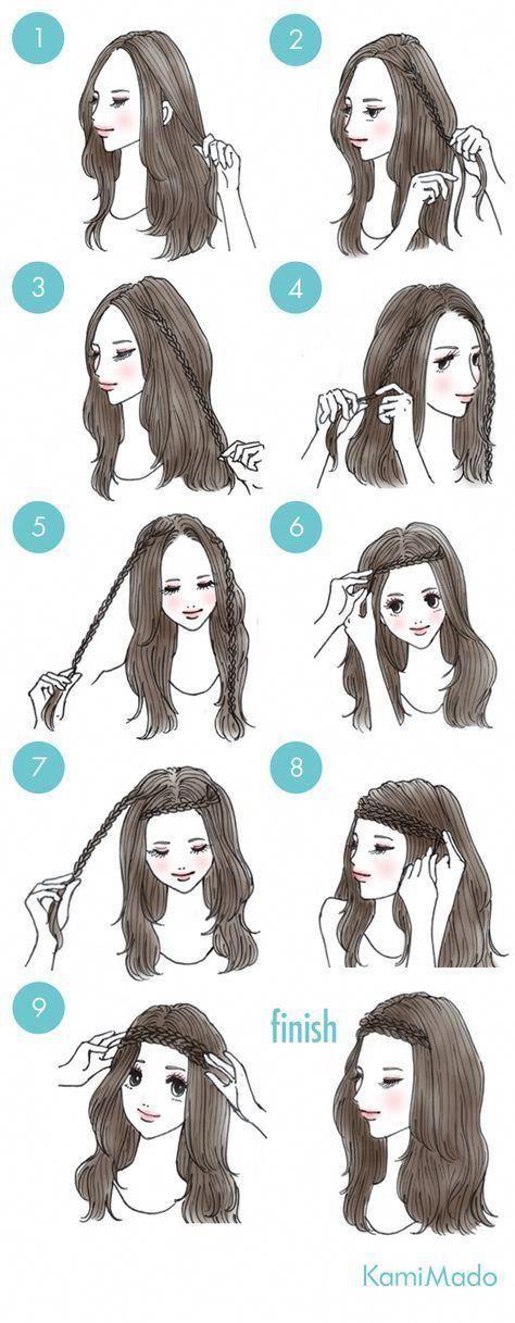 38+ Trendy Hair Braids Headband Easy Hairstyles – #Braids #Easy #hair #Hairstyle…