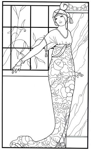 190 Best Art Nouveau Coloring Pages Images