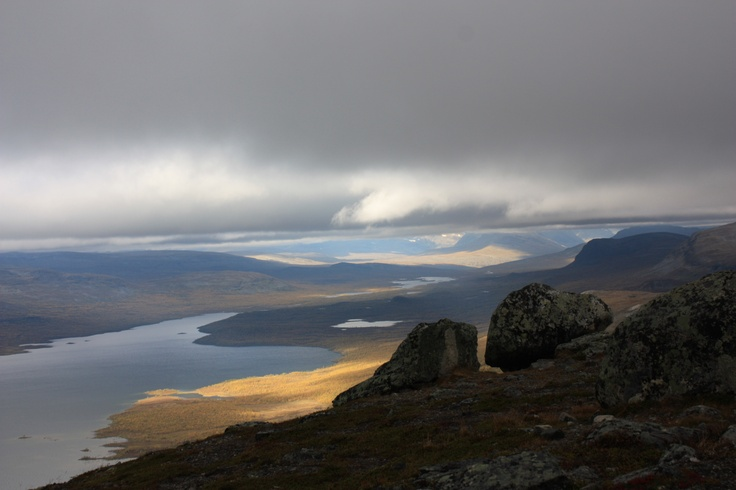 A view from Saana fell to the borders of Finland, Sweden and Norway