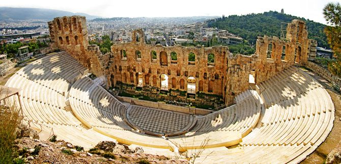 Odeon of Herodes Atticus | It was built in 161 AD by Herodes Atticus, an Athenian citizen of Roman ancestry, a Philhellenist and votary of the arts, to honor the memory of his wife, AniaRigilli. - Copyright © wondergreece.gr