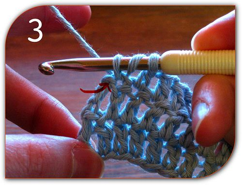 great pic tutorial for where to put your first and last crochet stitch for straight edges by Kim Werker at Crochet Me