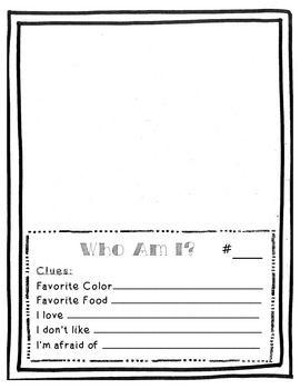 Who am i writing activity sheets