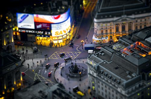Piccadilly Circus, London, England #britairtrans #tiltshift