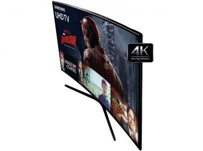 """Smart TV LED Curva 55"""" Samsung 4K/Ultra HD - 55KU6300 Conversor Digital Wi-Fi HDMI USB com as melhores condições você encontra no Magazine Nascimentochaves. Confira!"""