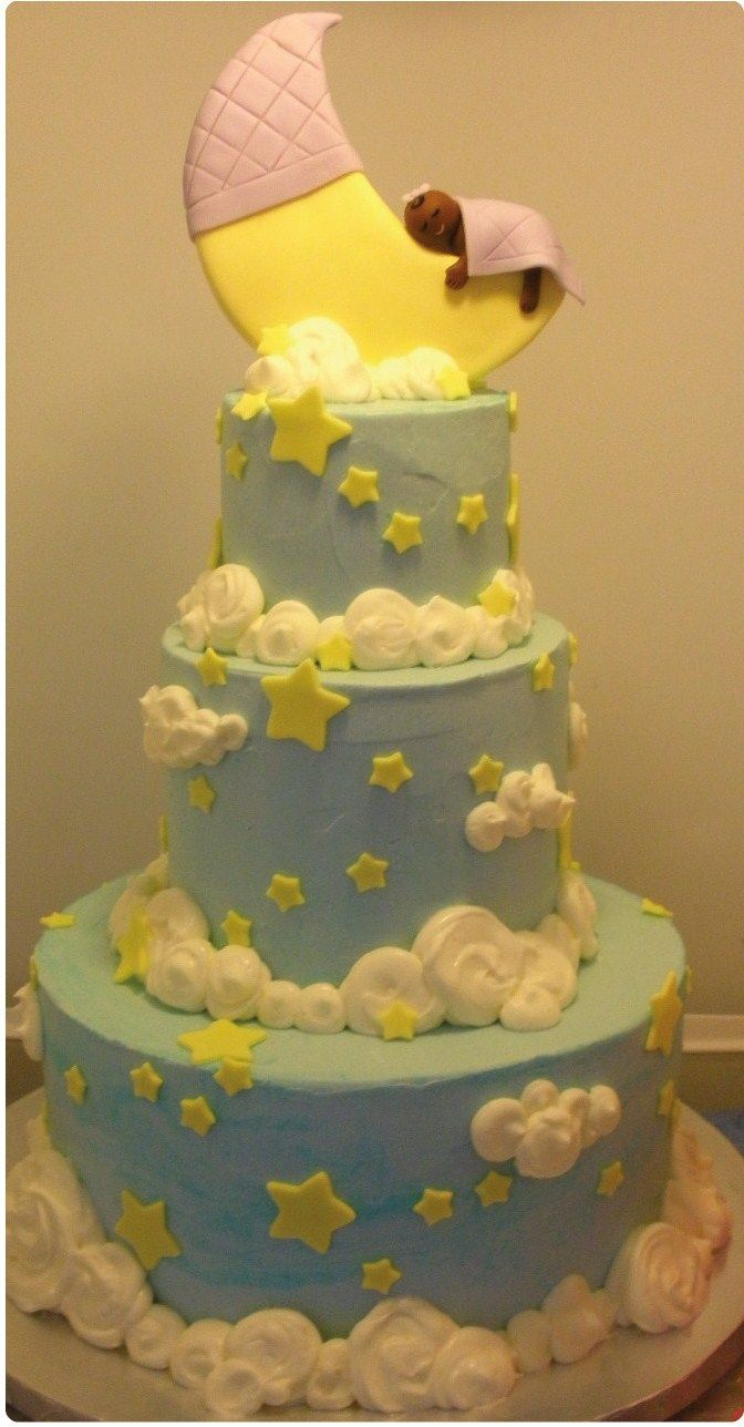baby shower cakes moon stars baby shower cake the yummy year
