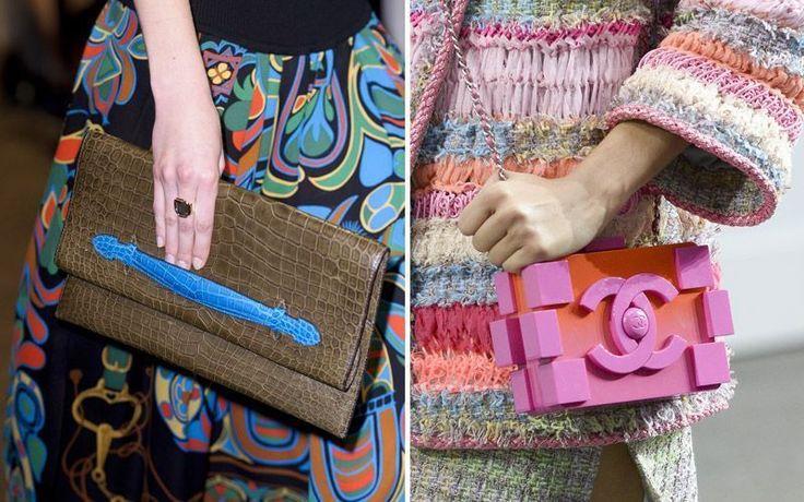 Linee pulite e colori esplosivi: è questa la combinazione vincente per gli accessori di primavera. Cominciamo con tracolle, bauletti e pochette