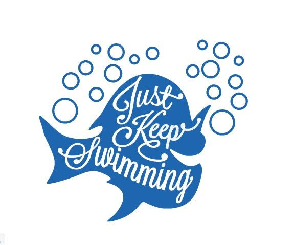 Just keep swimming decal dory decal just keep swimming sticker car decal