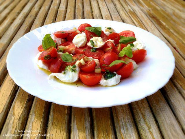 insalata caprese by Jamie Oliver.