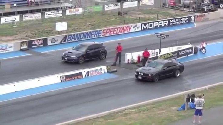 Драг Рейсинг Субару Импреза и Форд Мустанг Drag Race Subaru Impreza WRX ...