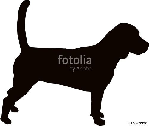 "Download the royalty-free vector ""Beagle hound dog silhouette"" designed by signcuttersart at the lowest price on Fotolia.com. Browse our cheap image bank online to find the perfect stock vector for your marketing projects!"