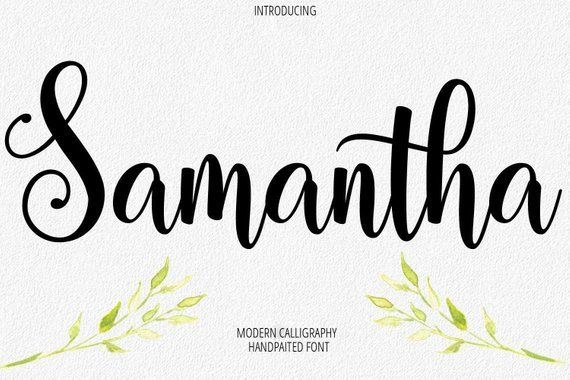 Digital Font Calligraphy Handwritten Script Wedding Watercolor