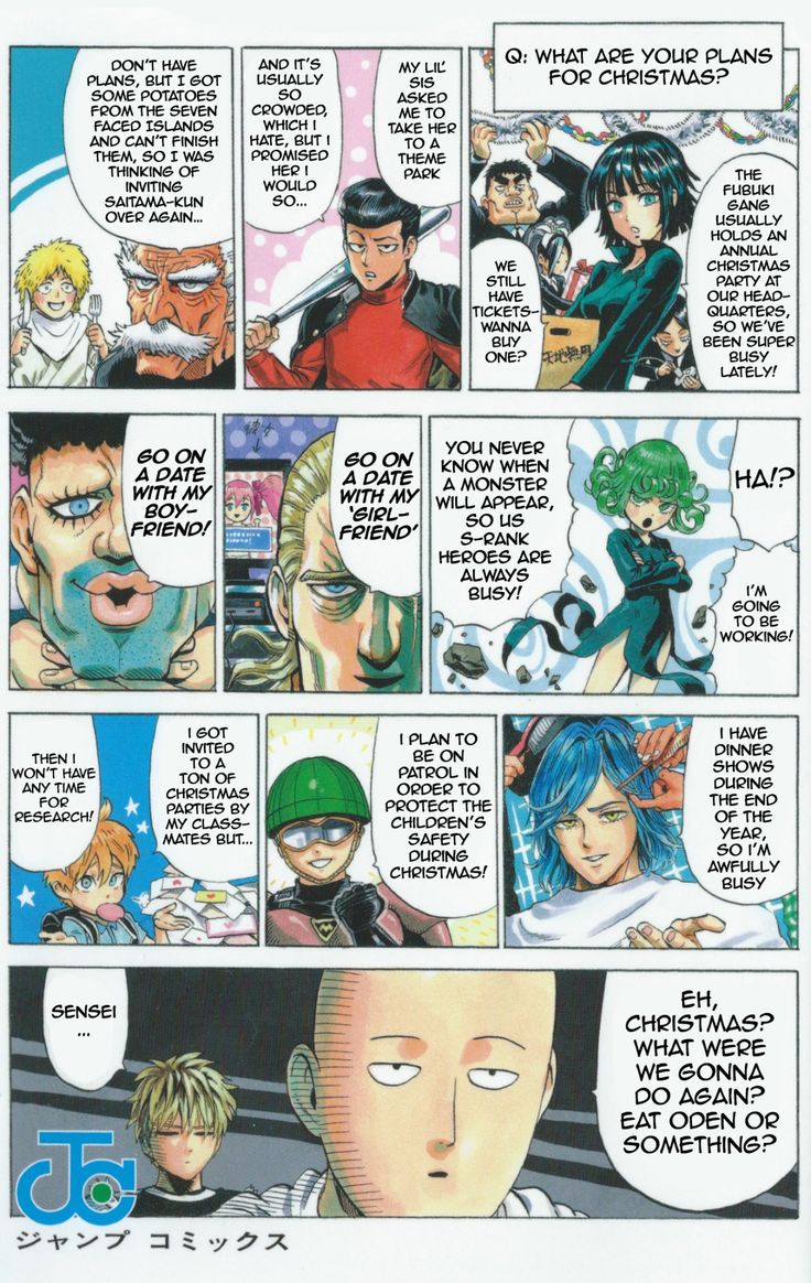 One Punch Man - What are your plans for christmas?