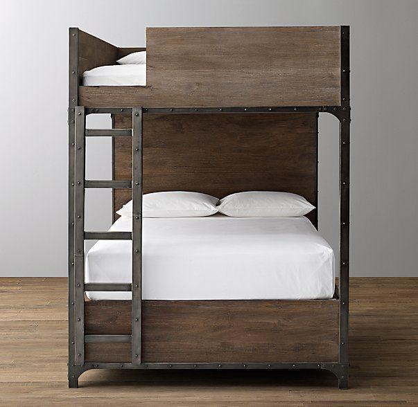 Industrial Locker Full Over Full Storage Bunk Bed