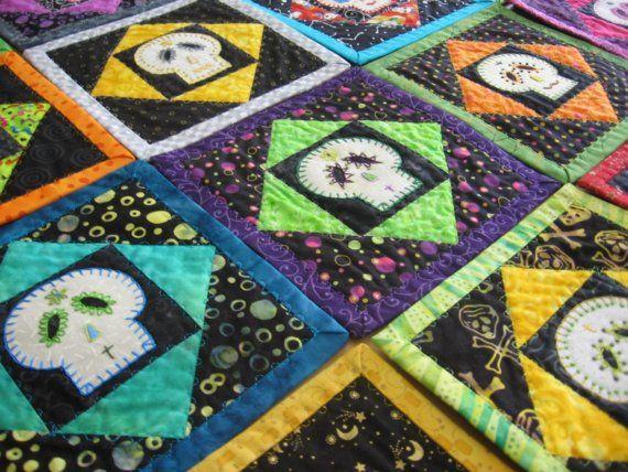 29 best Skull quilts ideas for Tina images on Pinterest | Skull ... : sugar skull quilt pattern - Adamdwight.com