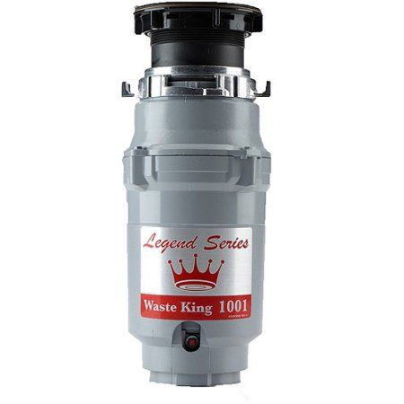 Waste King 1001 Legend Series 1/2 HP EZ-Mount Garbage Disposer, Multicolor