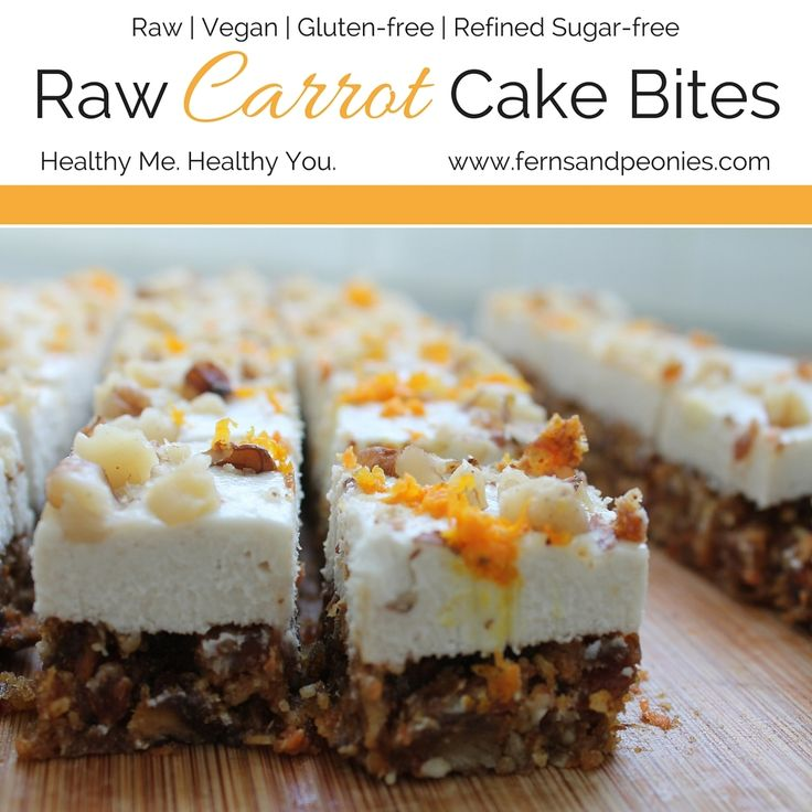 Who doesn't love carrot cake (move on if it's you)? Traditional carrot cake is loaded with sugar, fatty cream cheese, and white flour. I make a mean vegan, gluten-free version, but it's not all that much better for you. So I came up with a raw version. And let me tell you, it's just as delicio