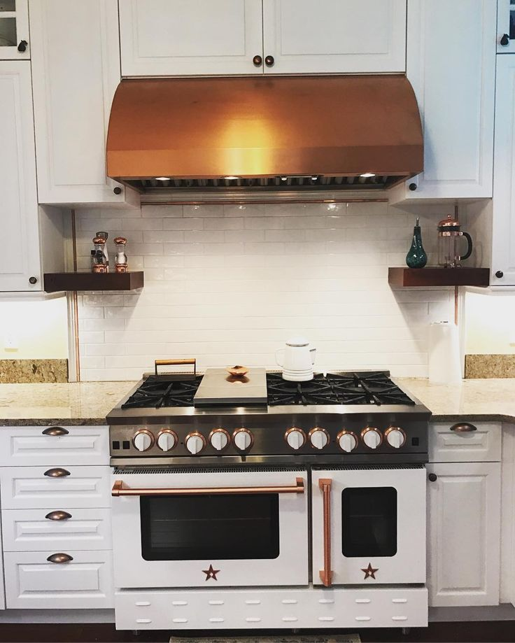 check out this stunning white nova range with copper trim and a copper prizer hood thanks for sharing we have the best customers