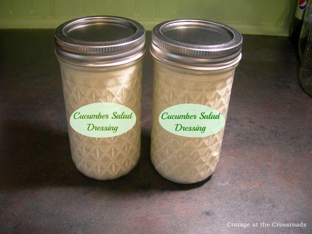 Fresh Cucumber Salad Dressing