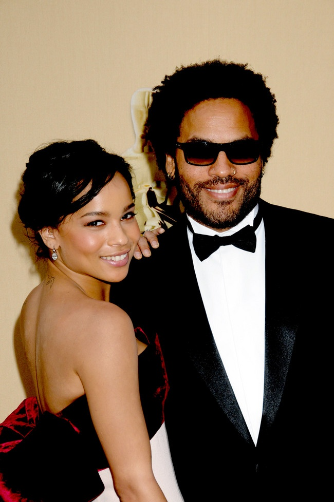 Zoe Kravitz and her dad, Lenny.