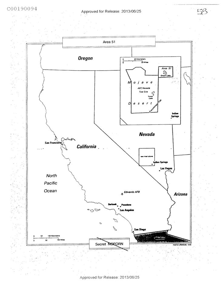 Area 51: Black Helicopters Or Little Green Men?                  					August 28, 2013 by John Myers                   										Two weeks ago, the CIA revealed one of its worse kept government secrets in a 355-page document. It admitted that Area 51, located on a vast track of government land 80 miles northwest of Las Vegas, really does exist.