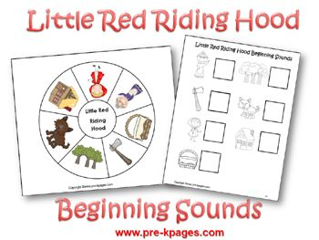 Pre-K Theme: Little Red Riding Hood @pre-kpages.com
